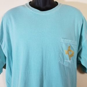 Comfort Colors Turquoise TX Tshirt, XL